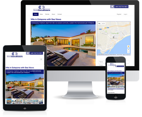 Responsive Real estate CMS software image